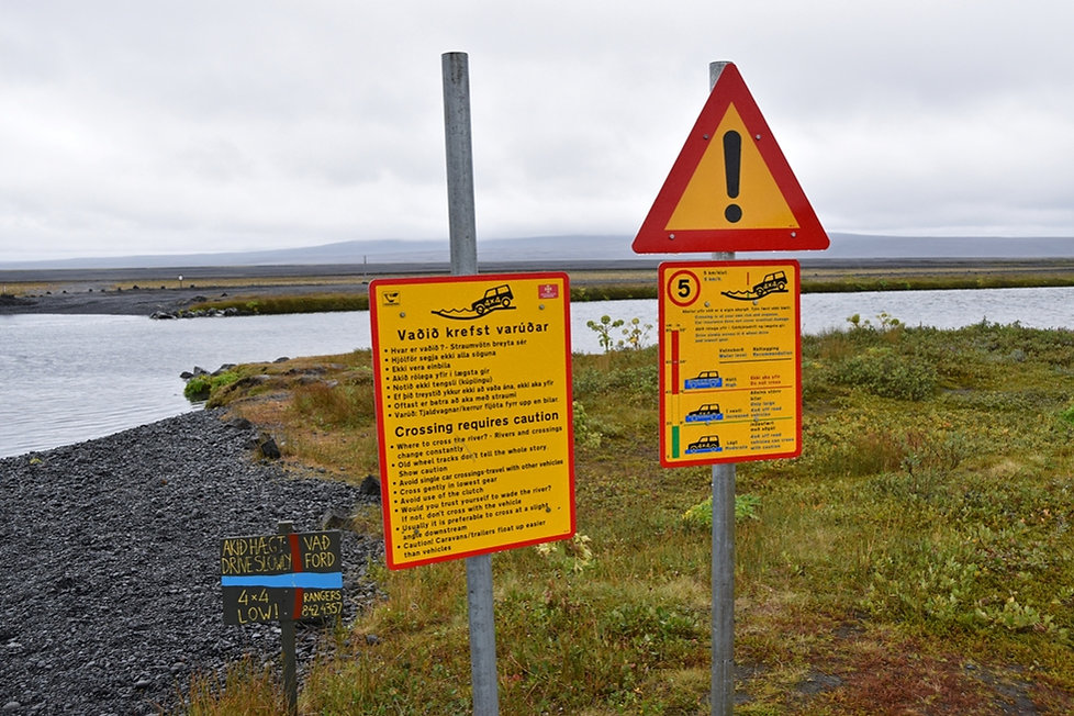 F88 rivière gué passage Lindaá askja access