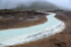 Islande Iceland Myvatn ruisseau bleu Krafla