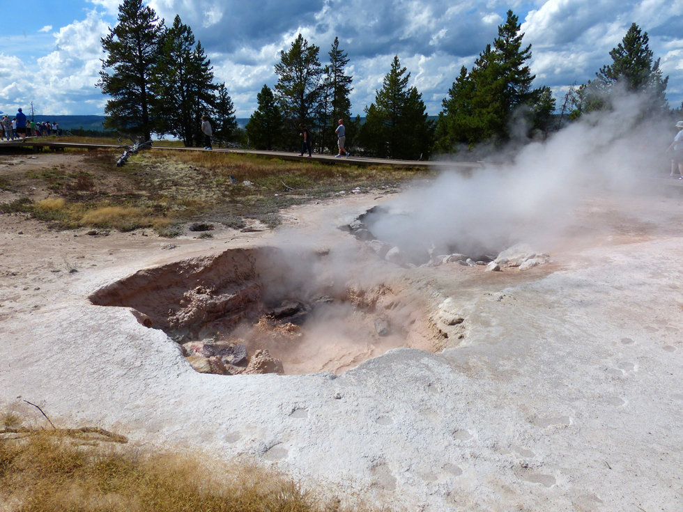 Yellowstone National Park Lower Geyser Basin Red Spouter