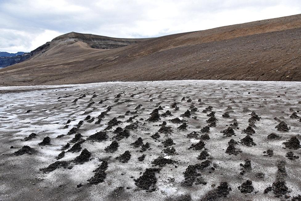 Askja caldeira volcan volcano cratère crater viti neige névé