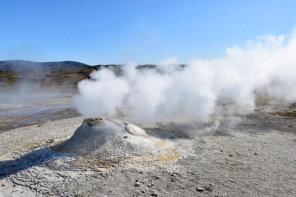 Islande zone géothermique Hveravellir cheminée fumerolle öskurholl