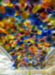 Las Vegas Bellagio fleurs verre