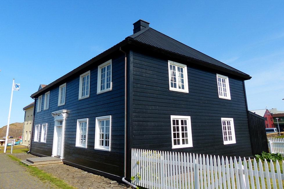 Islande Stykkisholmur Norska Husid maison bois noir