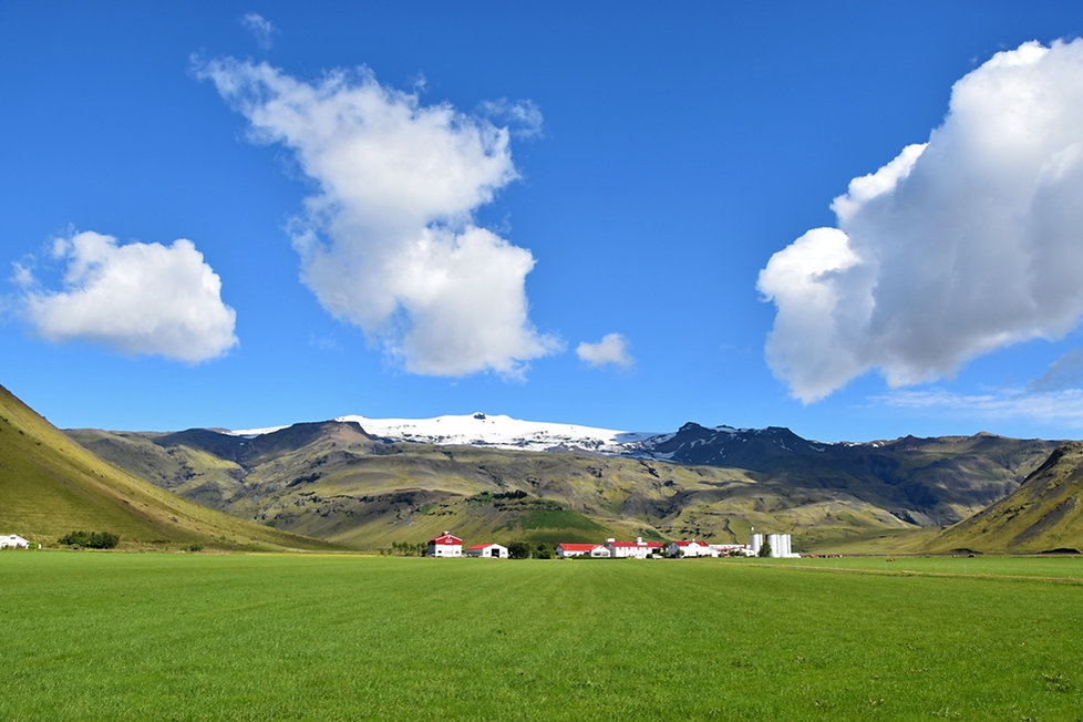 Eyjafjallojökull islande iceland sunny landscape paysage