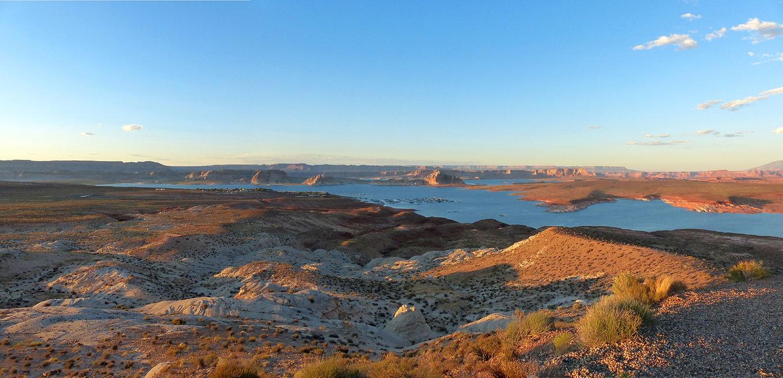 Lake Powell Wahweap Overlook Sunset