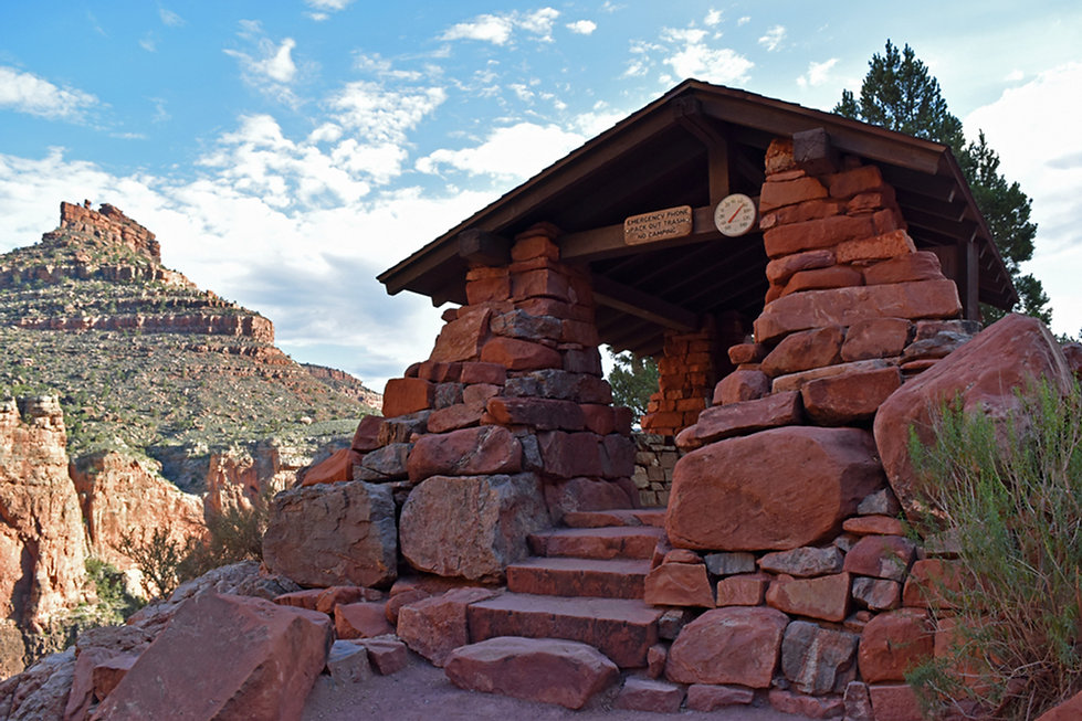Grand Canyon National Park - Bright Angel Trail - 3 miles Resthouse