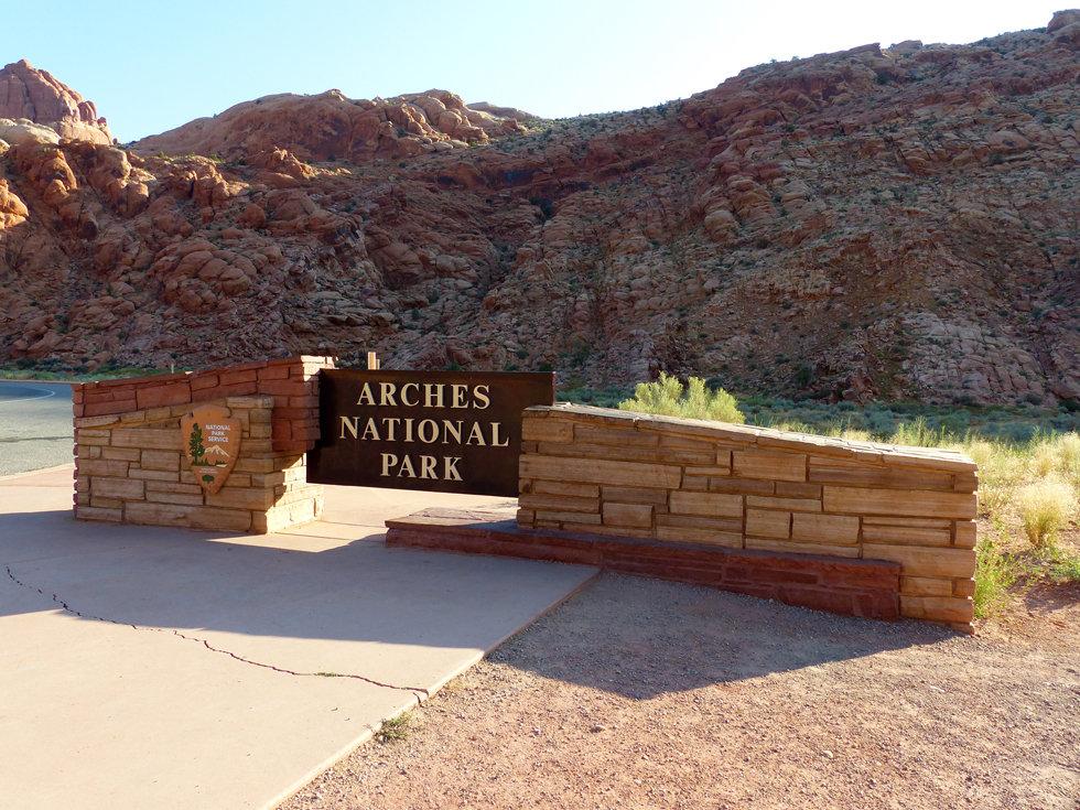 Arches National Park panneau