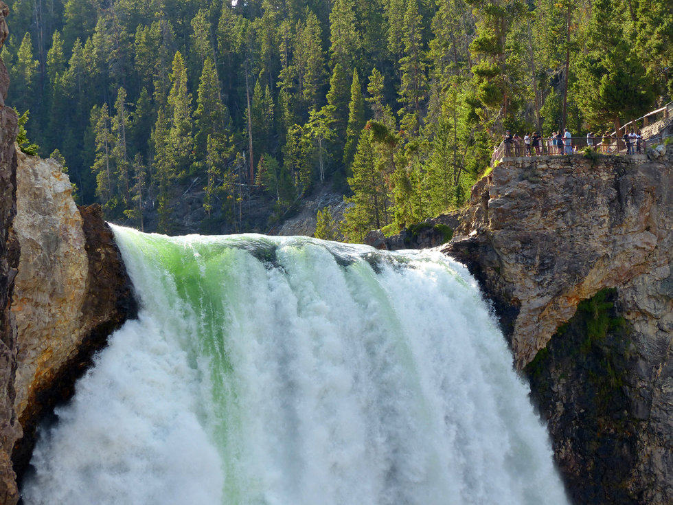 Yellowstone National Park Canyon Uncle Tom's Trail Lower Falls