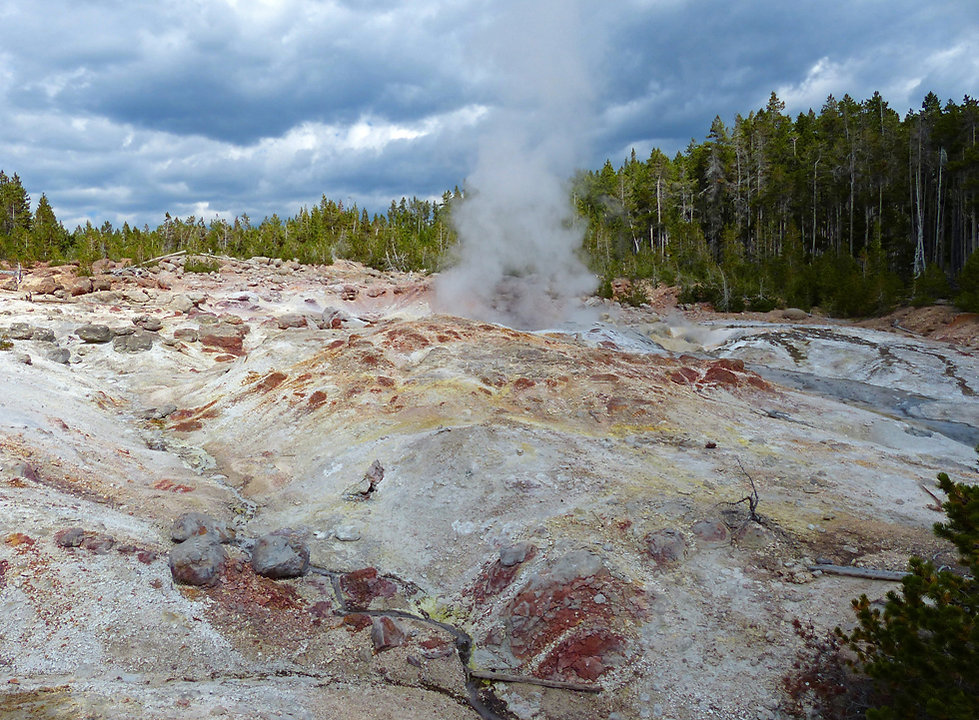 Yellowstone National Parc Norris Geyser Basin Steamboat Geyser