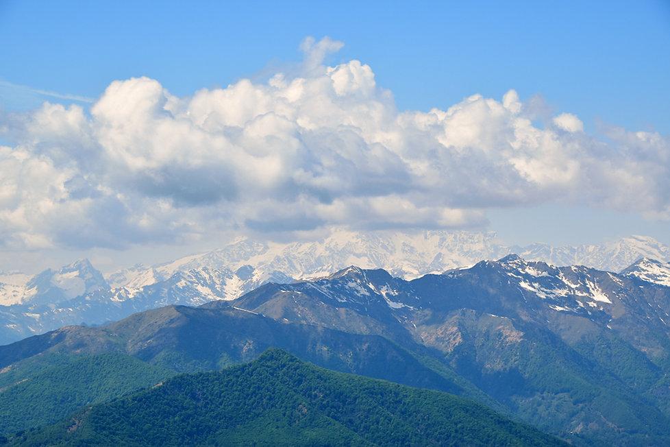 Italie sommet Mottarone Mont Rose
