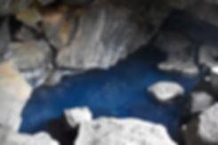 islande iceland myvatn Grjótagjá source chaude bleu