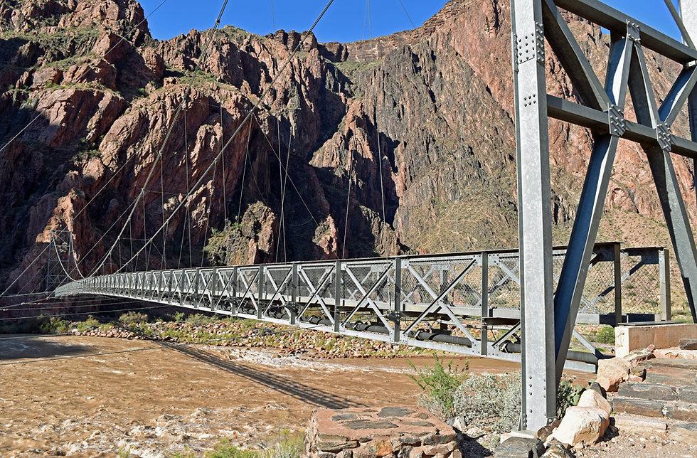 Arizona - Grand Canyon National Park - Bright Angel Trail - Silver Bridge