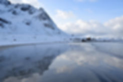Norvège - Lofoten - Flakstadøya - Skagsanden - plage
