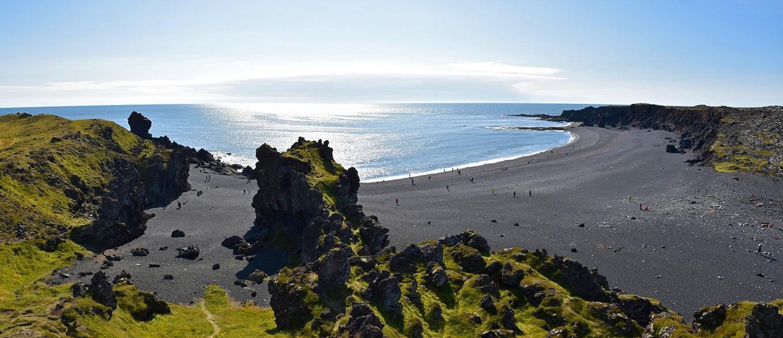 Islande péninsule Snæfellsnes plage baie Djúpalónssandur