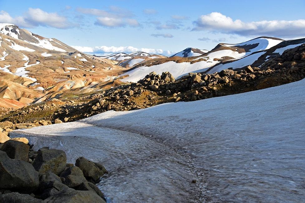 Islande massif Kerlingarfjöll névé neige
