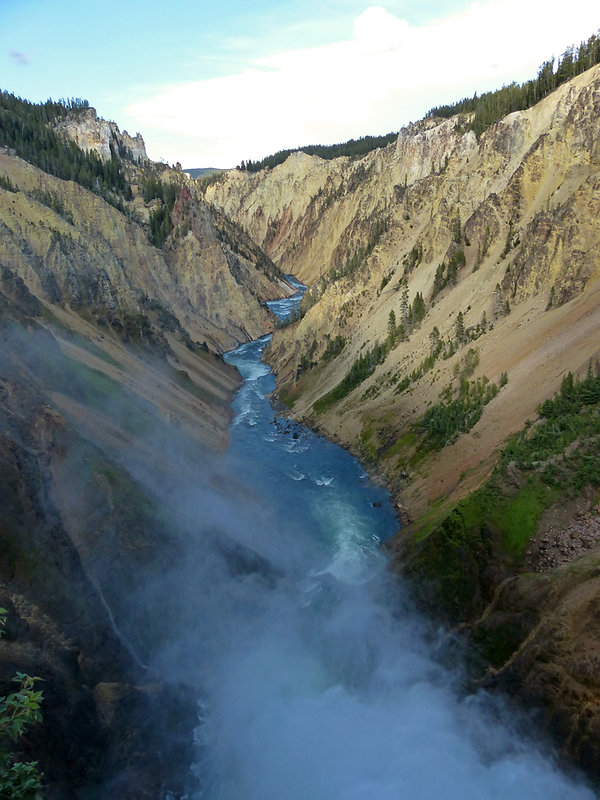 Yellowstone National Park Canyon Brink of the Lower Falls