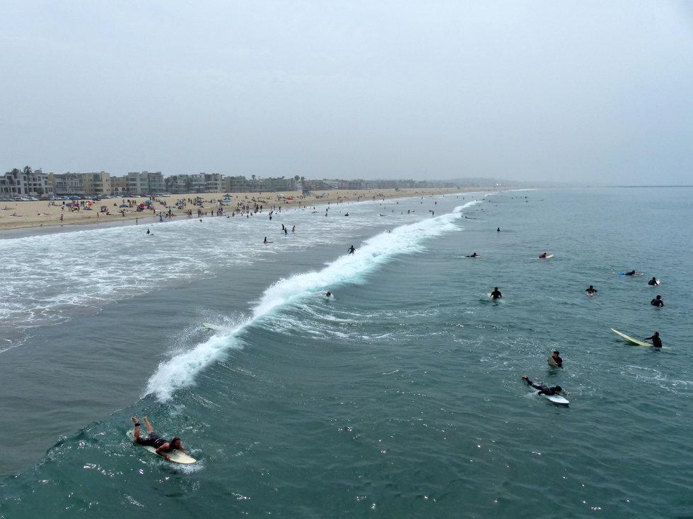 Los Angeles Venice beach surfers surf plage ocean pacifique pacific