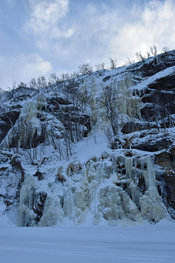 Norvège - hiver - cascade de glace
