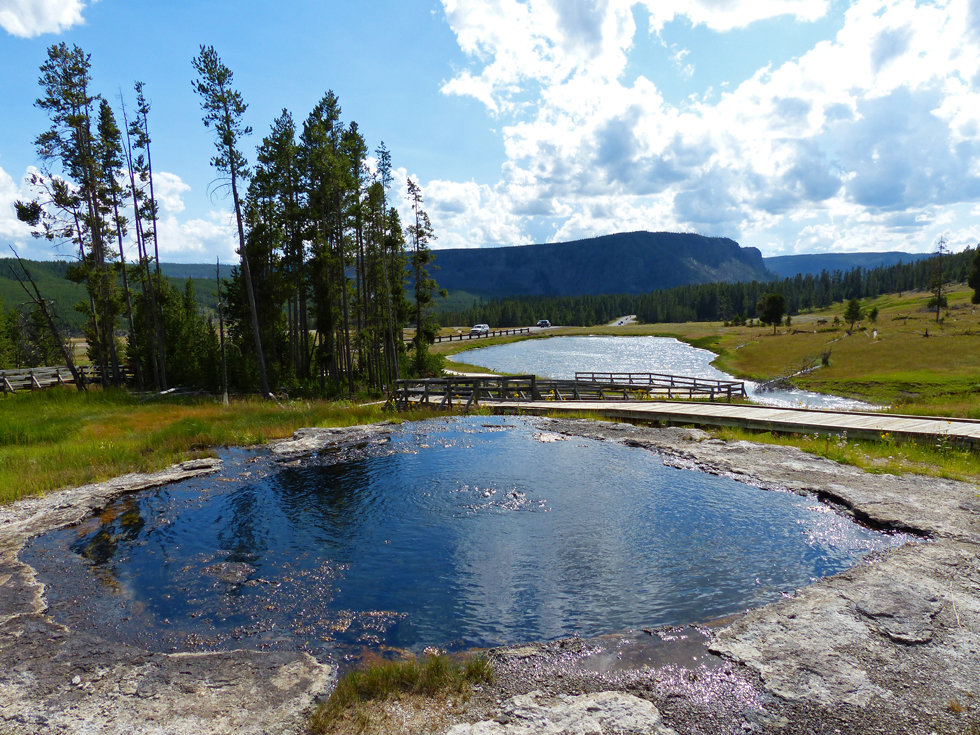 Yellowstone National Park Terrace Spring
