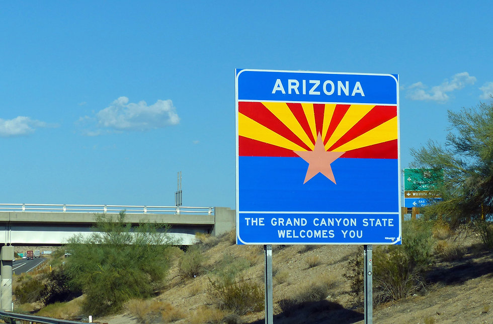 Arizona - Panneau - Interstate 40