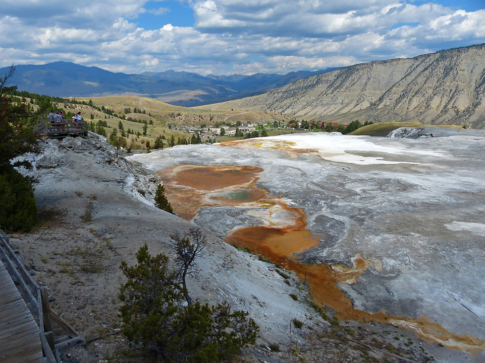 Yellowstone National Parc Mammoth Hot Spring Blue Spring