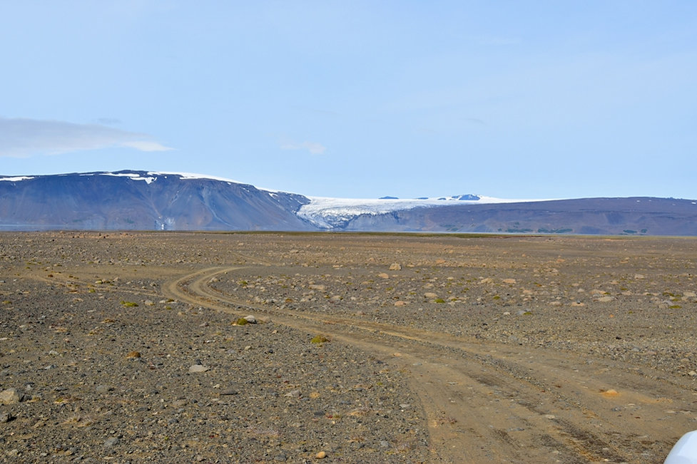 islande piste lac Hvítárvatn glacier Langjökull