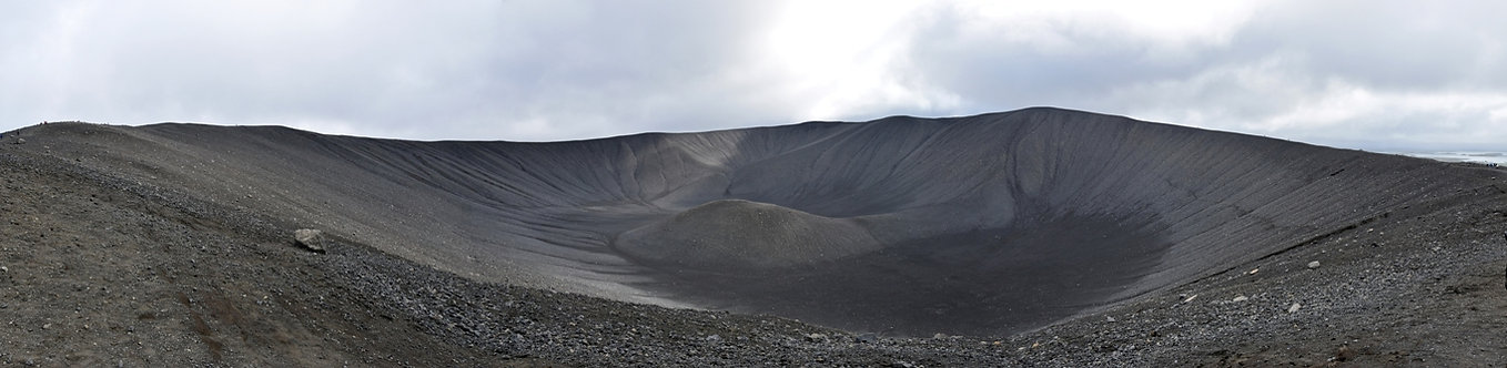 Islande Iceland Lac Myvatn Hverfjall volcan cratère panorama