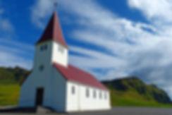 vik church église