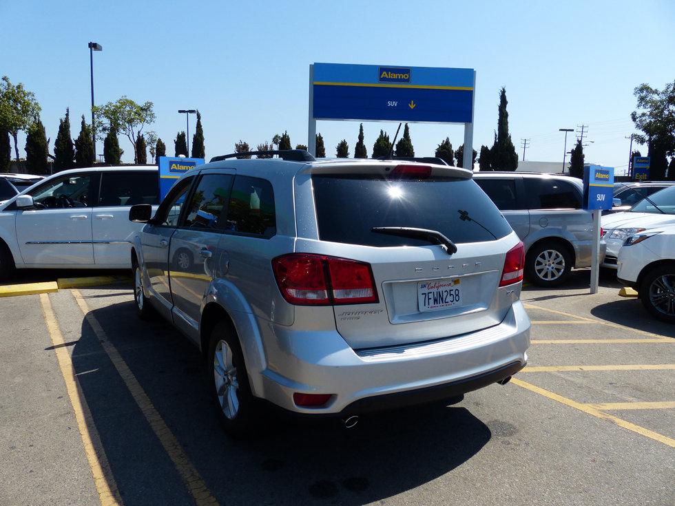 Alamo rent car Los Angeles LAX SUV Dodge Journey
