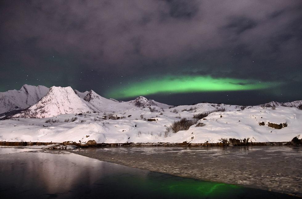 Norvège - Nyvågar Rorbuhotel - aurores - aurora