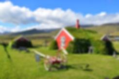 rfjördur eystri islande iceland maison toit gazon tourbe
