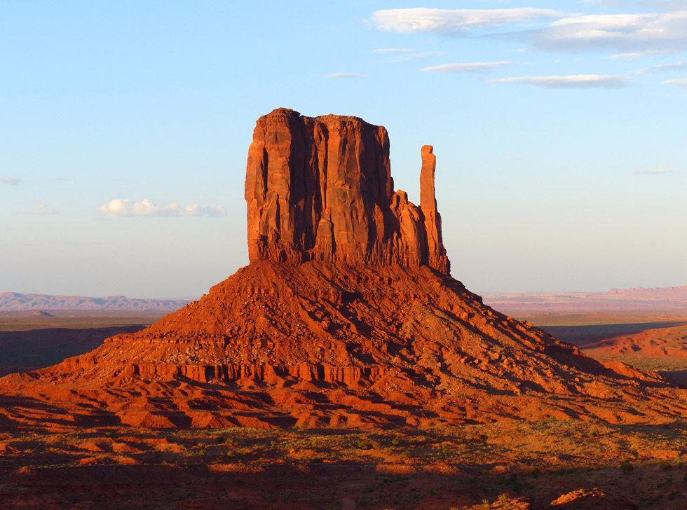 Monument Valley west mitten butte sunset