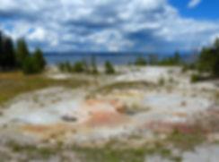 Yellowstone National Park West Thumb Geyser Basin Twin Geysers