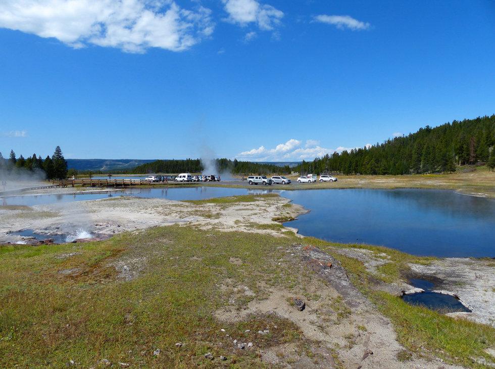 Yellowstone National Park Firehole Lake Drive