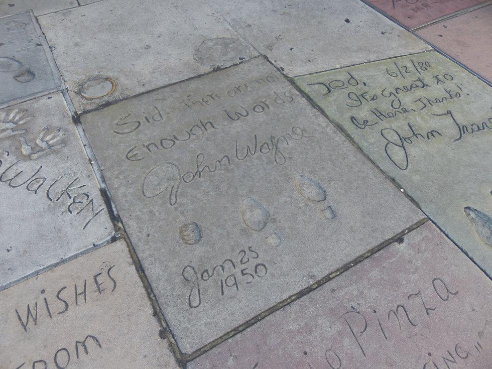 Grauman's Chineese Theate Hollywood Boulevard John Wayne