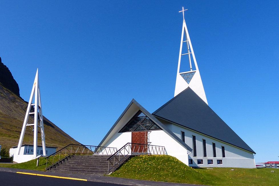 Islande Ólafsvík église moderne