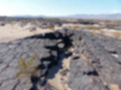 desert mojave amboy crater lave