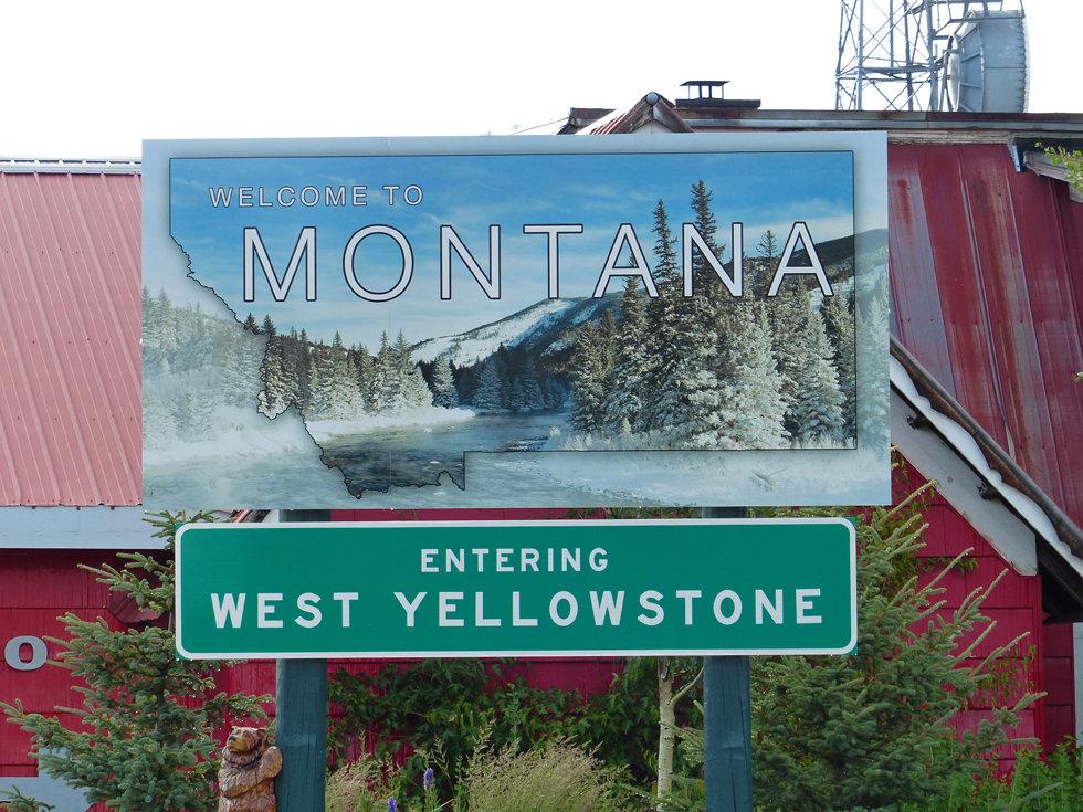 Montana state etat panneau