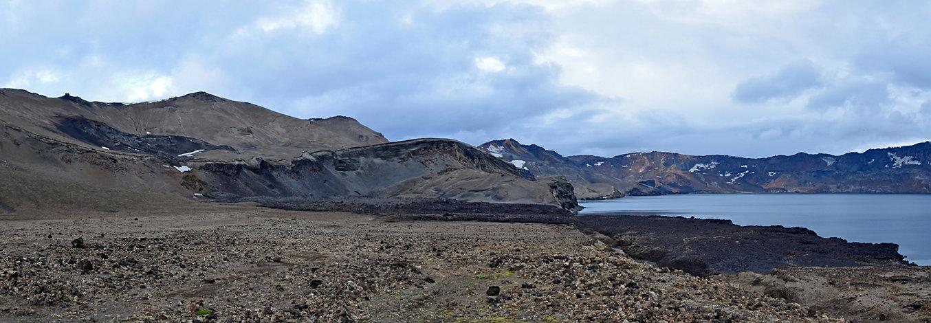 Askja caldeira volcan volcano cratère crater Oskjuvatn coulée lave lava