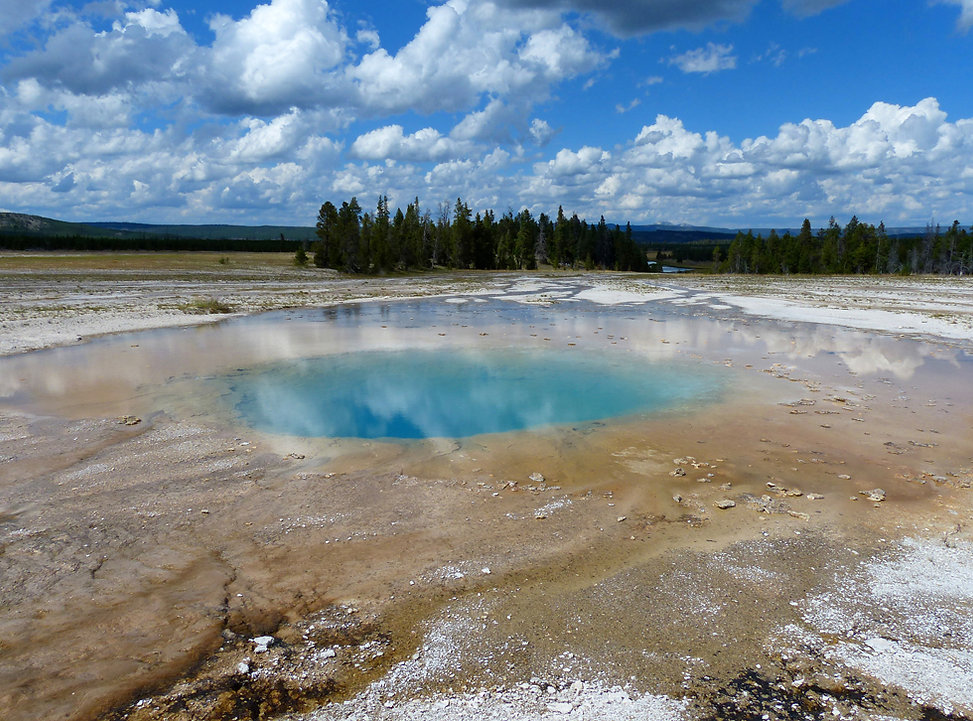Yellowstone National Park Midway Geyser Basin Opal Pool