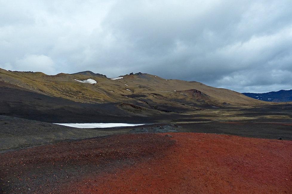 Askja caldeira volcan volcano cendre lave couleurs