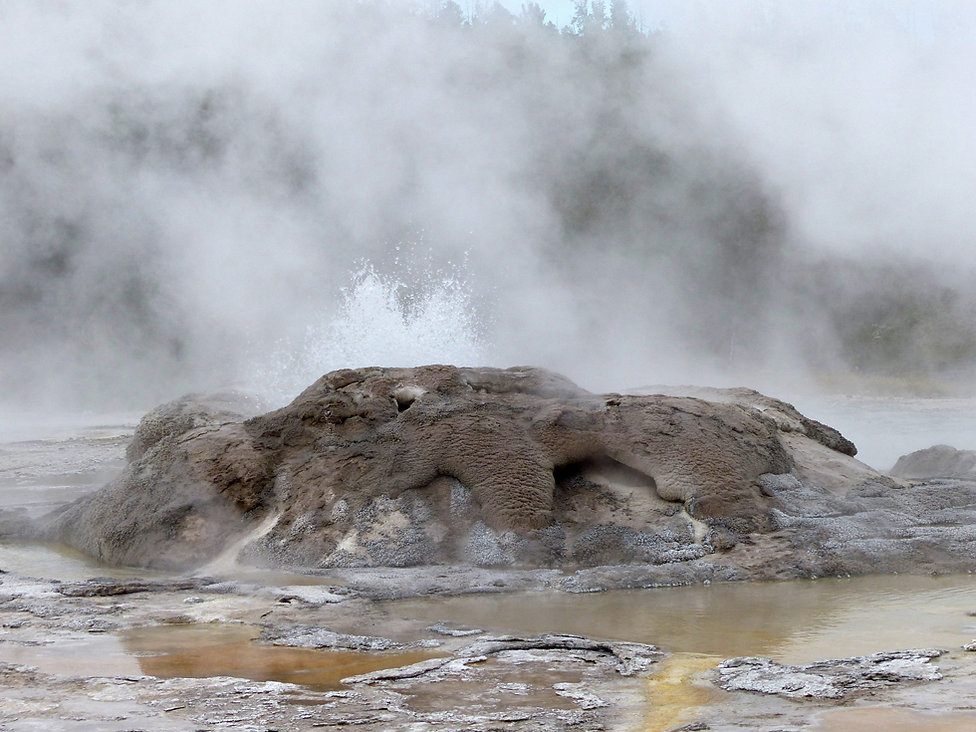 Yellowstone National Park Upper Geyser Basin Grotto Geyse
