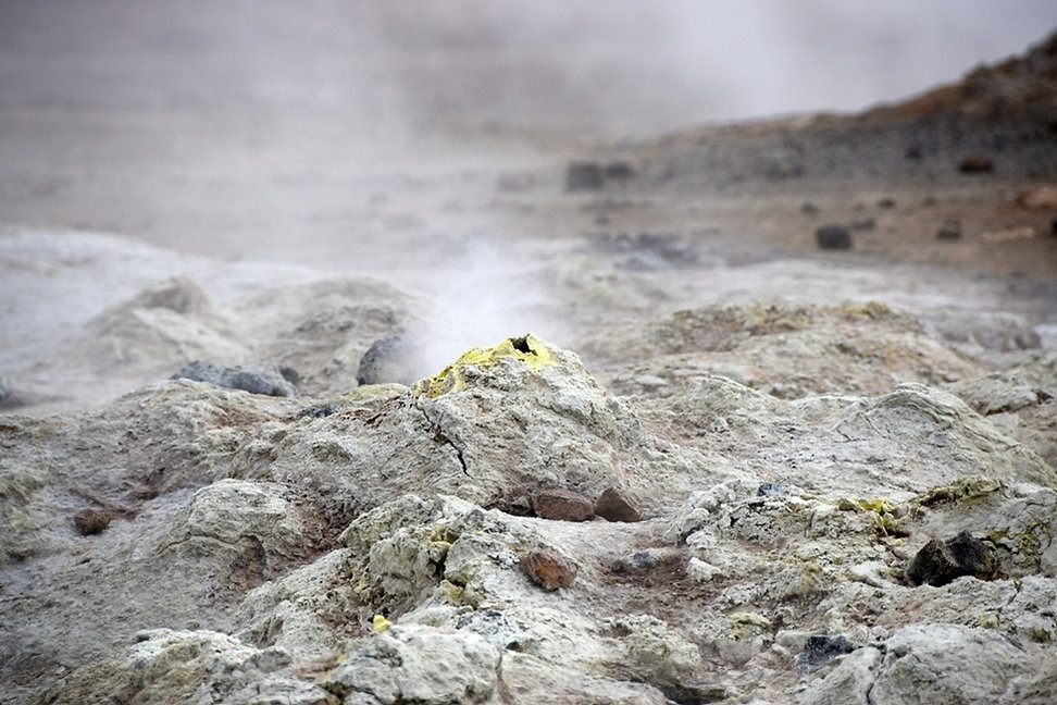 Islande Iceland Myvatn Hverir géothermique Namafjall fumerolle mare boue soufre solfatare