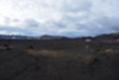 Askja caldeira volcan volcano chemin