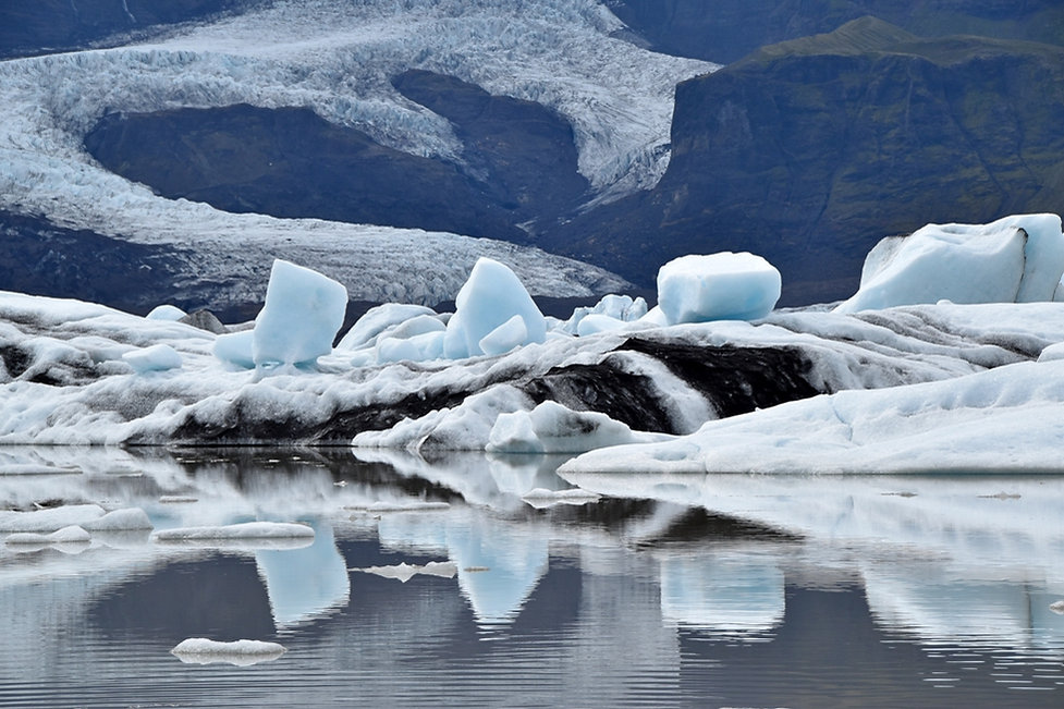 Fjallsárlón Fjallsjökull lac glaciaire