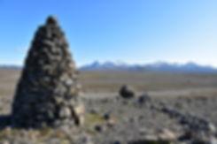 Islande piste F35 massif Kerlingarfjöll cairn