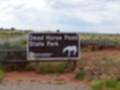 Dead Horse Point State Park panneau