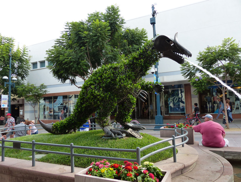 Los Angeles Santa Monica Third Street Promenade dinosaure