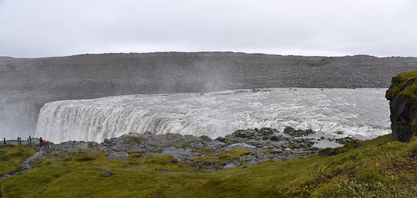 Dettifoss cascade waterfall panoramique islande iceland