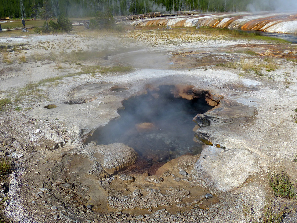 Yellowstone National Park Black Sand Basin Jagged Spring